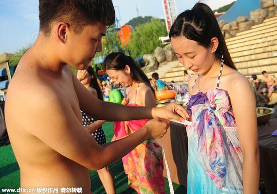 杭州办万人素颜相亲 女生当场洗脸男生测胸围