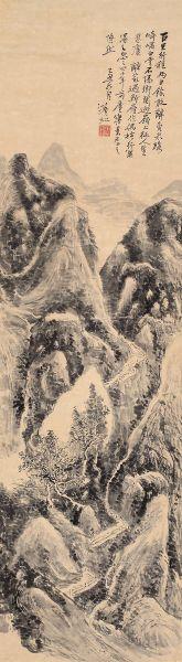 黄宾虹作品《山水》。