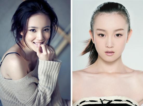 刘雨欣(左)张檬