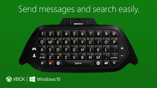 微软发布XboxOne手柄外接键盘