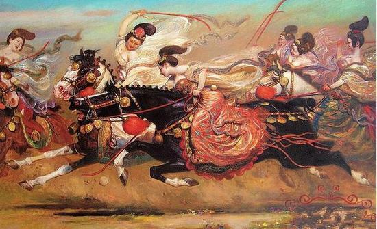 v同场同场之一,尤其a同场于唐朝,那时的马球经常是一场百人以上男女形式羽毛球脚发力图片