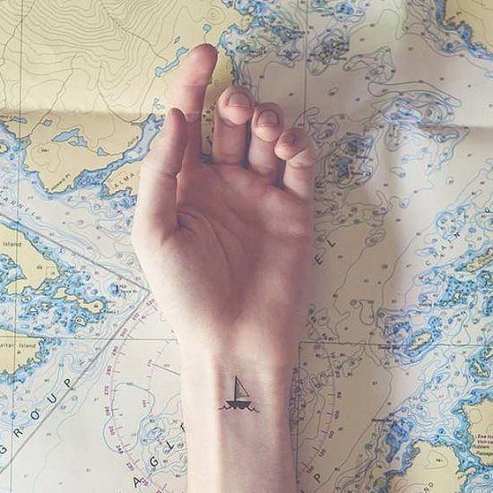 手腕上的小帆船