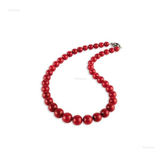 顶级沙丁红珊瑚项链,2014年拍卖成交价28万元