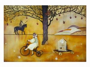 阿娜斯塔西娅 《儿童时代的梦》 70cm×90cm 布面油画 2009年