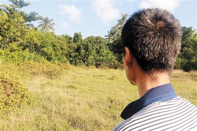 杨全钊的堂弟说,凶手作案后,就是把尸体埋在这片荒地。