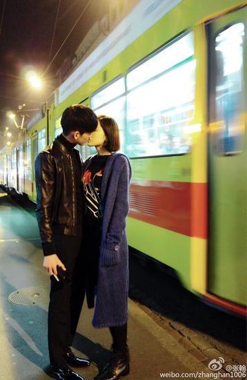 张翰微博图片