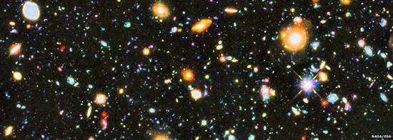 这是哈勃望远镜拍摄的成千上万的星系图片,向我们展示了宇宙的浩瀚以及我们所在的区域。