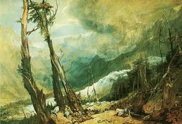 透纳《冰川和阿沃河的源头》