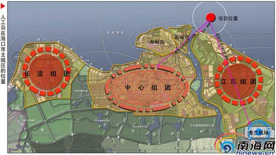 """""""如意岛""""的项目位置图。"""