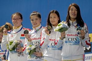 世锦赛女子4x100米混合泳接力 中国时隔六年夺冠