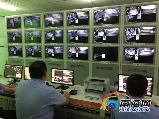 黄竹考场的监控系统(南海网记者高鹏摄)