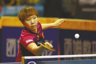 朱雨玲首获公开赛冠军。   雷远东摄