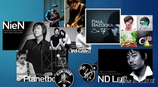 日本及韩国的音乐阵容