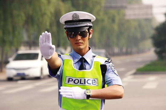 超帅警察手绘图片