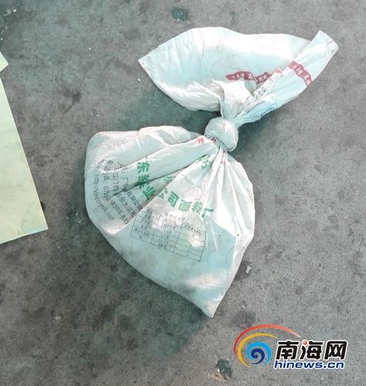 装有毒蛇的袋子(通讯员冯丽文摄)