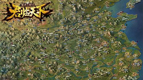 图3三国地图 真实还原