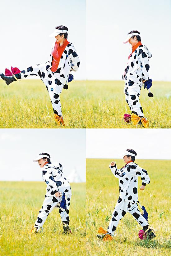 林青霞大秀奶牛装
