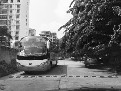 涉事的大巴车