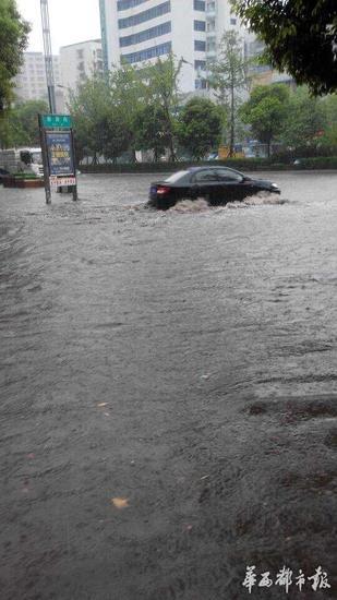 大雨突袭达州