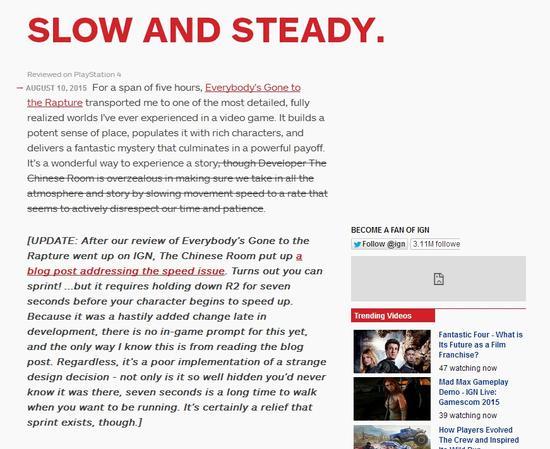 IGN修改《万众狂欢》评分至更高