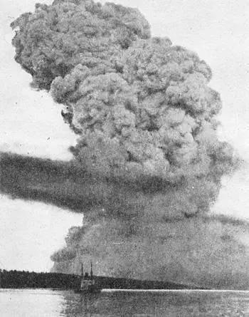 1917年加拿大哈利法克斯炸弹爆炸事件,爆炸威力相当于2.9万吨TNT炸药