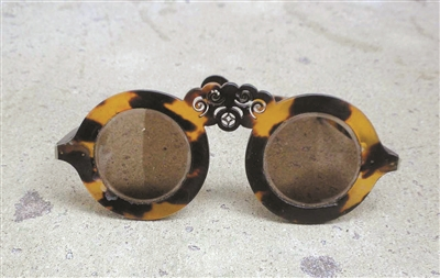 清代玳瑁茶晶眼鏡
