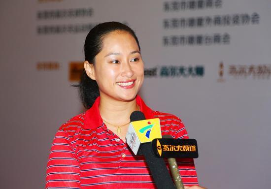 海南公开赛赛事执委会秘书长、上海金博禄体育文化发展有限公司董事长唐莉萍女士
