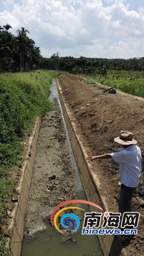 水渠几乎干枯。南国都市报记者杨琼文摄