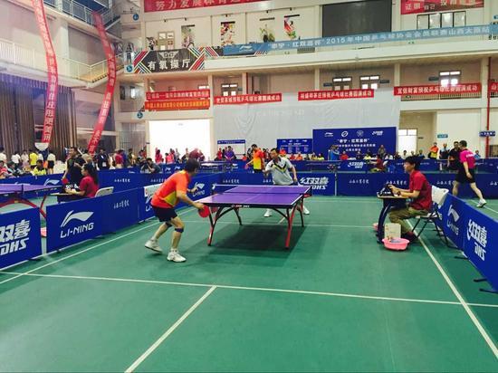 2015中国乒乓球协会会员联赛山西太原站今天开赛