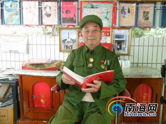8月21日,今年91岁高龄的王禄贵向南海网记者口述了那段浴血抗日及解放海南岛的战争故事。