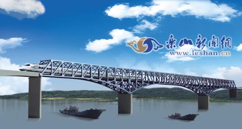岷江特大桥钢结构桥梁效果图