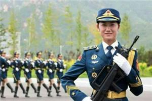 河北女孩参加大阅兵女仪仗队