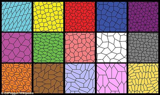 """算上这次最新发现,已知共有15种凸五边形,或者说不规则五边形,可被用来""""砌平面""""。"""