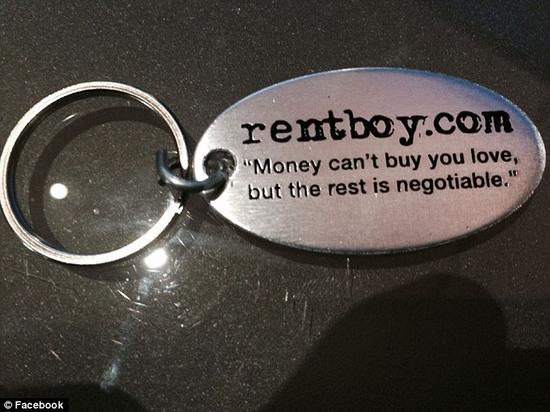"""(公司Twitter页面宣扬:""""金钱买不到爱,但其他的还可以商量""""。)"""