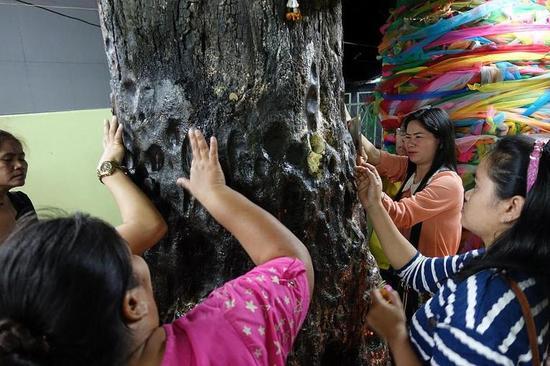 大众在树皮上抹香油寻觅侥幸号码