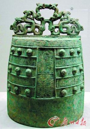 东京博物馆展出的战国时期、公元前5世纪蟠螭纹镈。