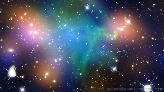星系内部充满着暗物质