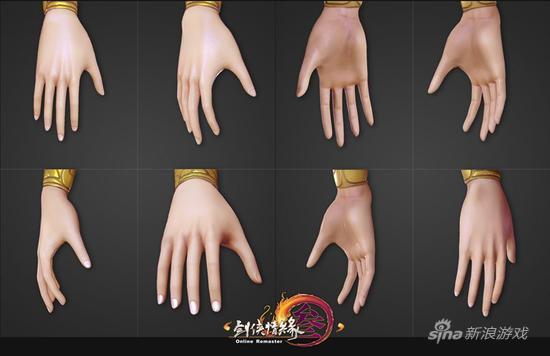 标女手部的研发效果演示,后续还将升级贴图精度