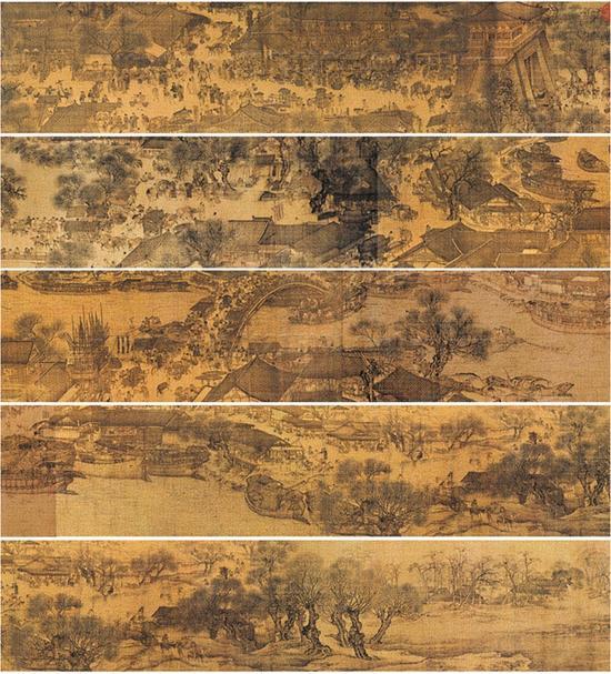 北宋张择端,清明上河图,北京故宫博物院收藏 图片来源于网络 新浪收藏配图