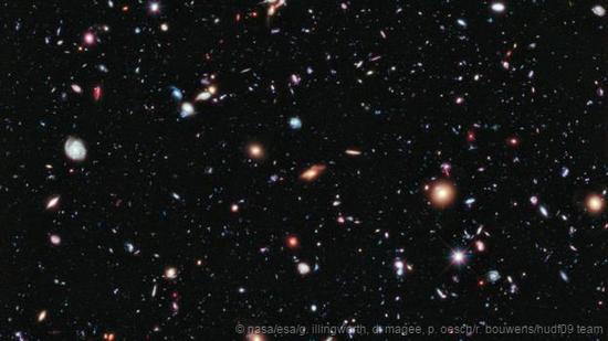 哈勃极超深场图像:宇宙中的星系与星系群