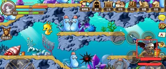 冒险岛手游水下世界隐藏关卡怎么去?海底隐藏地图在哪?很多玩家现在也许还不知道冒险岛手游水下世界隐藏地图在哪,更不要说是去找了,所以现在就为大家详细讲一下冒险岛手游水下世界隐藏地图怎么找,大家看了之后,要是还找不到,那只好面对面交流了。   冒险岛手游水下世界隐藏地图位置:   1、如图,大家的位置要在水下世界的蘑菇珊瑚山岳这个支图中。