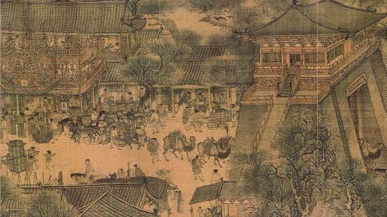 北宋张择端,清明上河图,北京故宫博物院收藏(局部) 图片来源于网络 新浪收藏配图