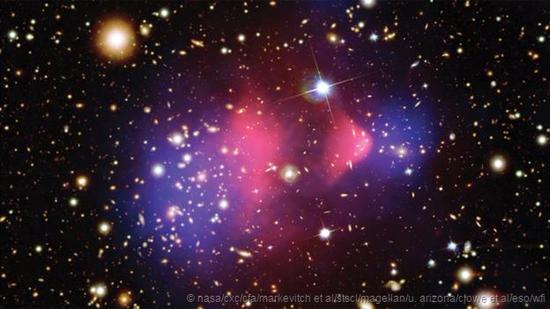 星系之间的相互碰撞为科学家们提供了有关暗物质存在的强烈证据