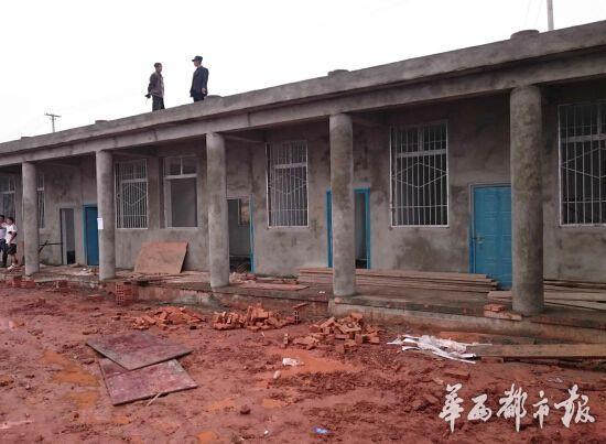 正在修建的教室。