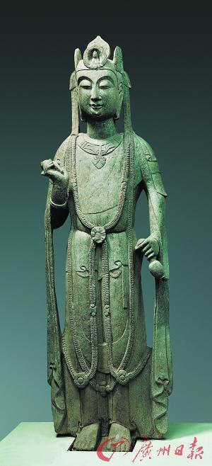隋 石觀音菩薩立像