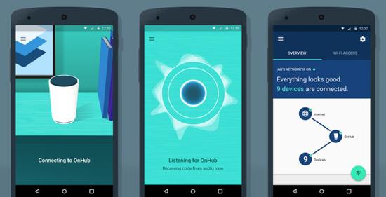 谷歌发布路由器OnHub手机软件Google On