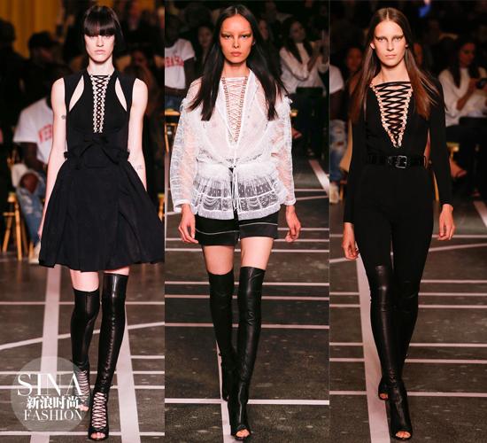 Givenchy2015春夏系列也有lace-up的设计