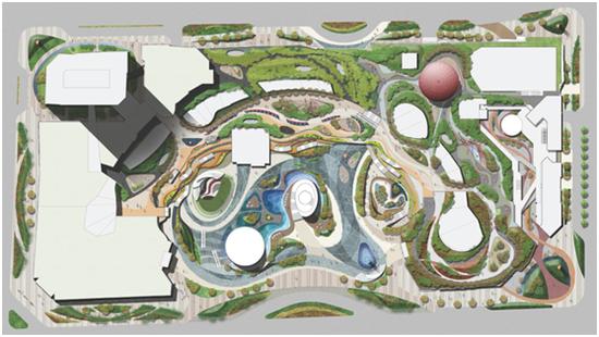 公园场景 手绘设计