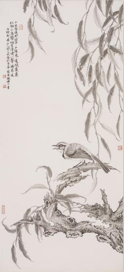 荷塘清影 45x90cm 2015