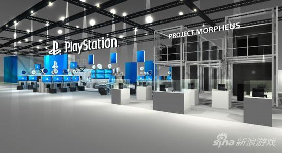 PlayStation展位蓝图